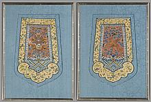 Pair of Framed Chinese Royal Embroidery, 19th Century
