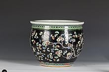 Chinese Famille Rose Porcelain Vat