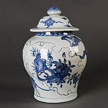 A Blue and White Porcelain Jar