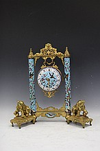 Cloisonne Hanging Clock, 18th/19th Century
