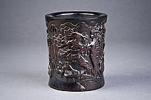 Intricately Carved Brush Pot