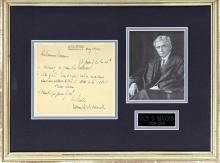 Supreme Court Justice Louis D. Brandeis autograph letter signed to Zionist Emmanuel Neumann