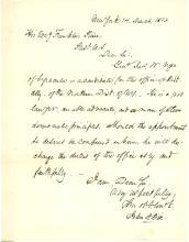 Future Secretary of the Treasury John Adams Dix autograph letter signed to President Franklin Pierce re: NY Democratic politics