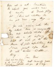 Rare autograph letter signed by English chemist Humphrey Davy on the subjects of sex and fishing