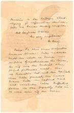 Lengthy Theodor Herzl 1899 handwritten letter on Zionist business: