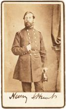 Signed Brady CDV photograph of Civil War Union General Henry J. Hunt, co-author of