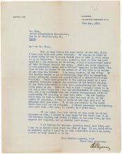 Future Israeli president Chaim Weizmann typed letter signed on immigration of 3 brothers and physicians to Palestine