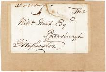 George Washington free frank addressed to a Revolutionary War colonel