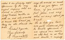 Oct. 1912 letter from a Titanic survivor about the