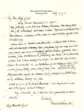 Louis D. Brandeis rare autograph letter signed to Zionist Henrietta Szold