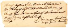 Andrew Jackson document signed prior to attack on Ft Bowyer, AL