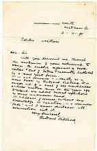 Kipling autograph letter signed re: pirated edition of 'Out of India'