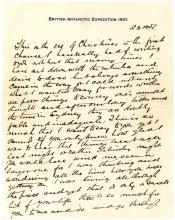 Ernest Shackleton extramarital love letter signed