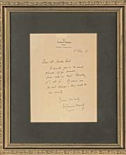 Virginia Woolf autograph letter signed to Sigmund Freud's son Martin