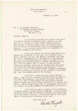 Orville Wright typed letter signed about his rival Glenn Curtiss