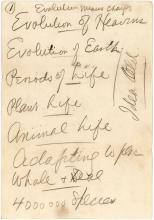 Darrow's notes on evolution 5 months after the Scopes