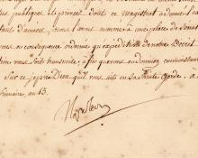 Rare Napoleon letter signed in full 2 weeks after coronation as emperor