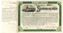 Henry M. Flagler Standard Oil Trust stock certificate to the president of the Florida East Coast Railway