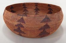 Native American woven basket, Pome Tribe, CA