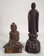2 Carved Asian Figures