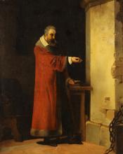 After Jean-Antoine Laurent, Galileo in Prison, o/c