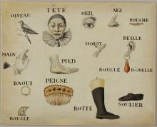6 o/c Illustrating French Words.
