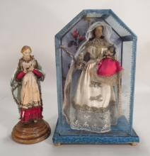 Virgin and Child and a Figure of Saint, 19th C.