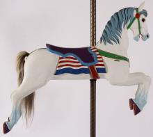 Herschell-Spillman Carved Wood Carousel Horse