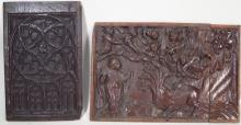 A Gothic and Renaissance Carved Wood Panels