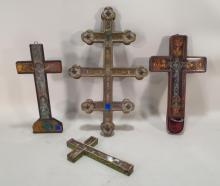 Four French Crucifixes,18-19th C.