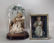 Two Figures of Christ Child, 19th C., in Displays