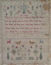 1808 Sampler by Sarah Biles, Age 10