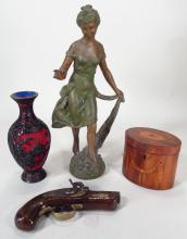 Group of four decorative articles, 19/20th C.