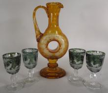 Lot of Bohemian glass, Continental, 19th cent.