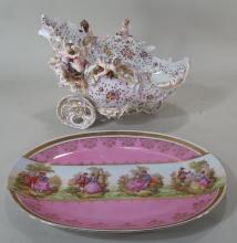 Two pieces of European porcelain, 20th cent.