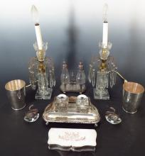 Group of Decorative items, Late 19th, Early 20th C.