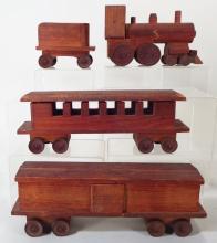 Fold Art Wooden Train, American, 19th/20th Cent