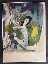 Leon Wall, Modernist Figures, 1962, mixed media