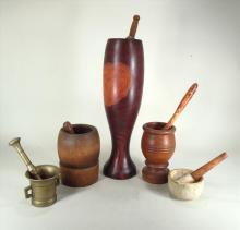 Group of Mortar and Pestles, 19/20th C.
