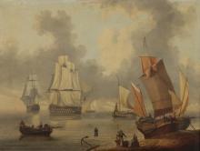 French School, Galleons at Sea, O/C