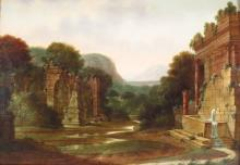 Pair Italian Landscapes With Ruins, 18th C., O/C