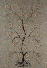 Silk & Wool Embroidered Panel, 19th C.