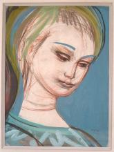 Presler, Head of a Young Girl, 20th c
