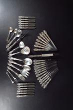 43-Pc. sterling silver flatware, American, 20th c.