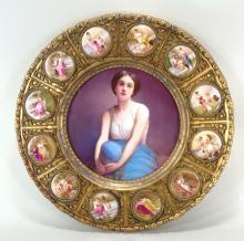 Austrian Porcelain Plaque, late 19th/early 20th c