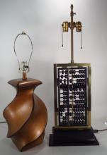 Chinese Lamp & an Abacus as a lamp