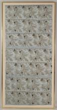 Embroidered Silk Curtain Panel. 19th/20th C.