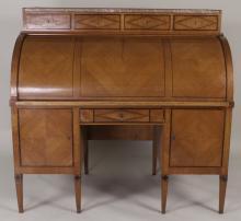 Austrian Biedermeier Roll Top Desk, 19th C.