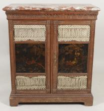 Fr Country  Cabinet with Chinoiserie Panels, 19th c