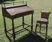 Ernest Hemingway Collection Desk/ Stool, 20th C.
